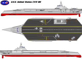 USS United States CVX-80 by bagera3005