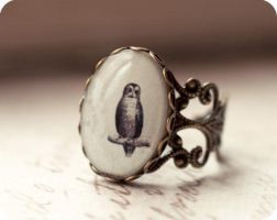 Antique Owl ring by BeautySpotCrafts