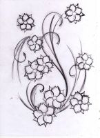 flowers tattoo sketch by WillemXSM