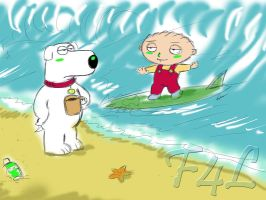Stewie and Brian Down Under by Fighter4luv