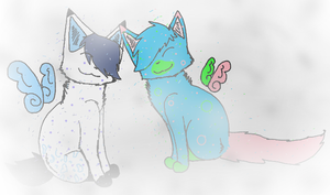 Kailo and Tana Snuggling like Bosses on clouds by TimidFawn