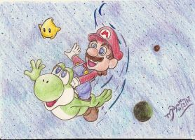 Super Mario galaxy 2 by Ma-yara