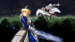 Saber vs Assassin by HaryuDanto