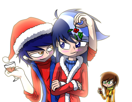 Merry Christmas Danish, Daggry and Mary D by AntoPbo
