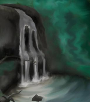 Waterfall WIP by weddingc