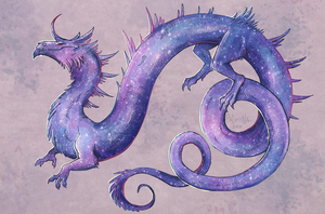 galaxy dragon by Paleona