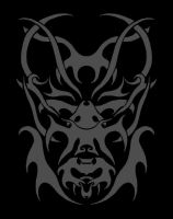 Wolfman Tribal Design With Black Background by ayelid