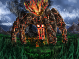 Fire Colossus by Kosmik90