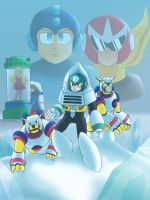 Mega Man 10 Chill Man Drawing by Espiownage