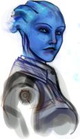 Liara sketch by Ne-sy