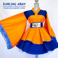 Young Uzamaki Naruto Cosplay Kimono Dress by DarlingArmy