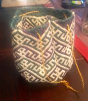 Embroided purse by FrokenWenno