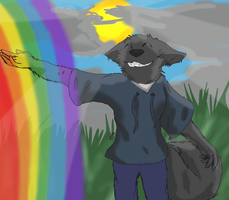 .I touched a rainbow today... by Gin-Black-Wolf