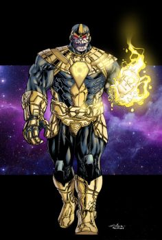 Thanos of Sinestro Corps - Ginmau colors by SpiderGuile