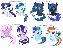 MLP Shipped Adoptables part 2 CLOSED by Psycho-CandyAddicted