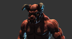 Doom Baron Of Hell MudBox Render by s13n1
