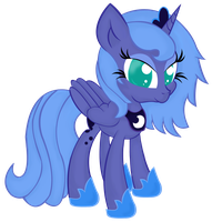 Cute Luna is best pony! by HamaTTe