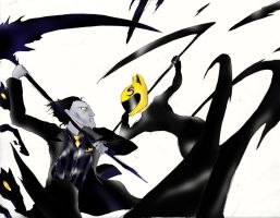 Unlikely band: Pitch Black vs. Celty Sturluson by Omnipotrent
