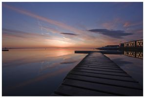 Sunset at the Marine Lake II by wrob