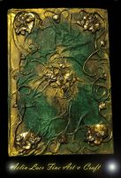 Golden forest elvish notebook by Gwillieth