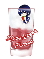 CR cup collab : Strawberry Float by ravealie