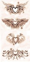 Heart tattoo design by Proteusz
