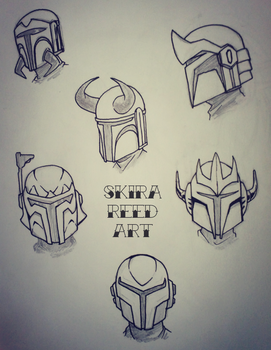 Buy'ce Mandalorian Helmet Designs by Skira-Reed