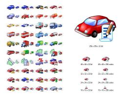 Car Icon Library by Ikonod