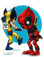 Lil Deadpool 'n' Logan by lordmesa
