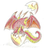Baby Fire Dragon by CobaltWolfSirius