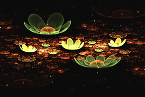 Summer Flowers Fractal by LarxxinEnrag