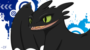 Smiling Toothless by DarKFeaR-10