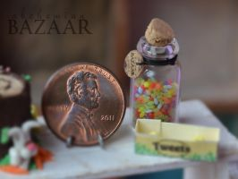 Jelly Beans in Jar 1:12 Scale by TheMiniatureBazaar