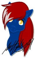 Blue Blaze Headshot by SarahHardy01