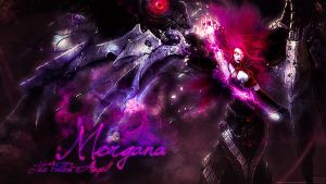 LoL Wall - Morgana - The Fallen Angel by Sirhaian