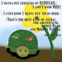 wanna put stickers on turtles by strryeyedreamr27