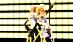 Rin and Len by narusegawaxx