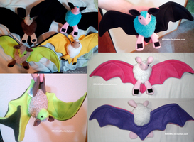 CuddleBat Plushies! by KiRAWRa