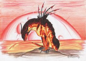 Magma Dragon by Dae-Thalin