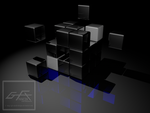 Black Rubik Cube by gfx-micdi-designs