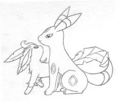 Umbreon + Leafeon Request by sunnyfish
