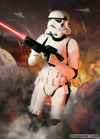 Stormtrooper on Tatooine by Balgosa