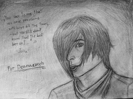 Like some boy from anime..- Picture for Deanaczech by Isira123