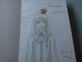 Lamia in my memory book (drawn by my sis) by Aliana-chan
