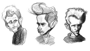 James Dean Sketches by DoodleArtStudios