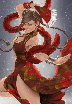 Chunli Glamour by Artgerm (COLORS) by carol-colors