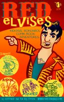 Red Elvises Comic Cover by raisegrate