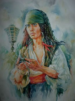 Young Jack Sparrow by MarinaCardoso