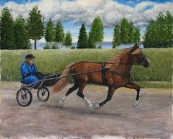 Finnish horse painting by Garbuend