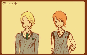 Draco and Ron by pocchan